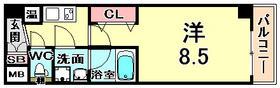 神戸市東灘区住吉宮町の賃貸物件間取画像