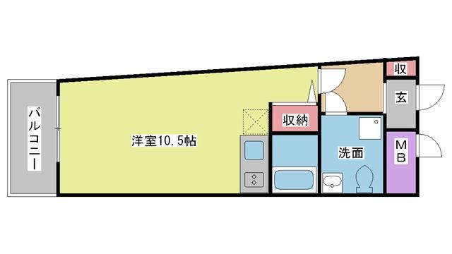 神戸市灘区岩屋中町の賃貸物件間取画像
