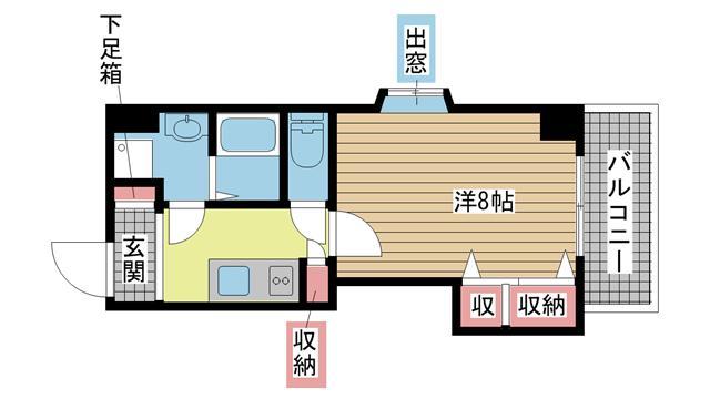 神戸市灘区備後町の賃貸物件間取画像