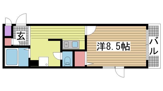神戸市灘区八幡町の賃貸物件間取画像