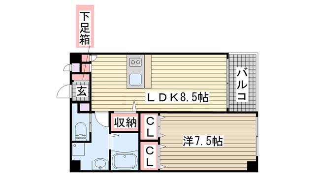神戸市垂水区東舞子町の賃貸物件間取画像
