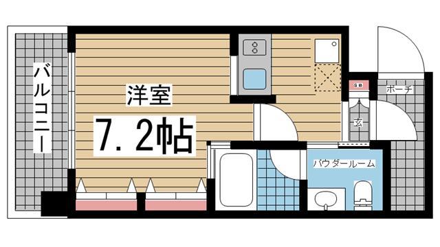 神戸市灘区友田町の賃貸物件間取画像