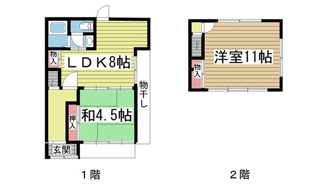 神戸市灘区畑原通の賃貸物件間取画像