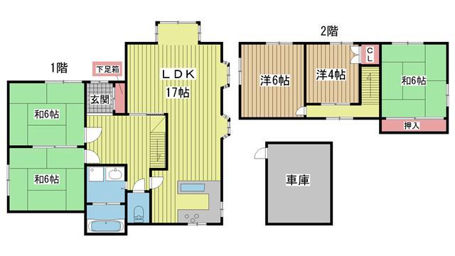 神戸市北区泉台の賃貸物件間取画像