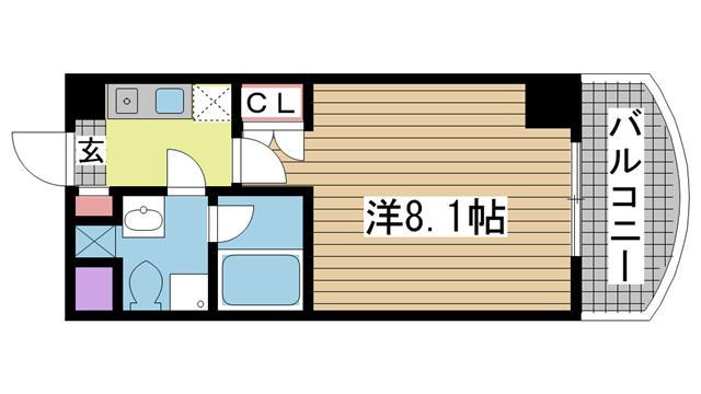 神戸市灘区岩屋南町の賃貸物件間取画像