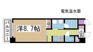 神戸市灘区記田町の賃貸物件間取画像