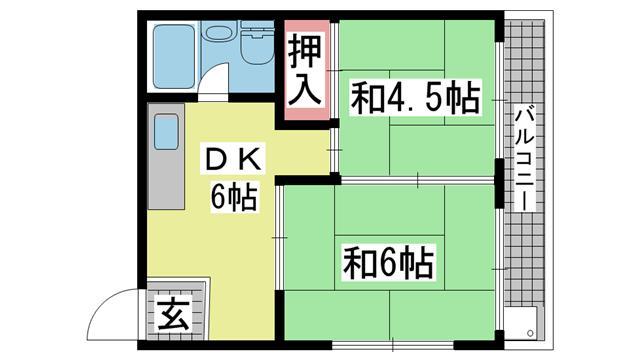 神戸市灘区下河原通の賃貸物件間取画像