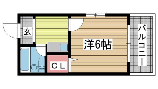 神戸市灘区神ノ木通の賃貸物件間取画像