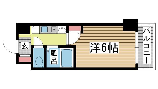 神戸市中央区古湊通の賃貸物件間取画像