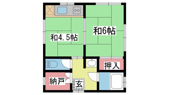 神戸市東灘区住吉南町の賃貸物件間取画像