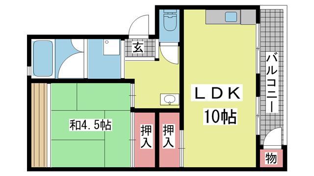 神戸市垂水区学が丘の賃貸物件間取画像