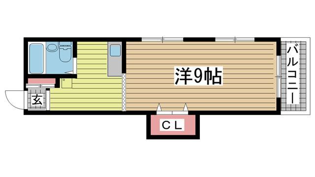 神戸市中央区中尾町の賃貸物件間取画像