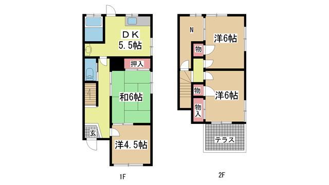 神戸市垂水区高丸の賃貸物件間取画像