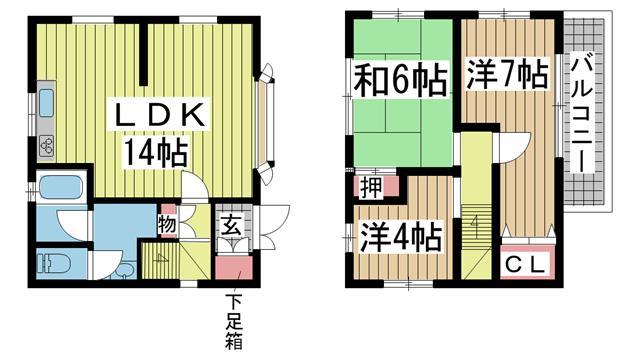 神戸市東灘区深江南町の賃貸物件間取画像
