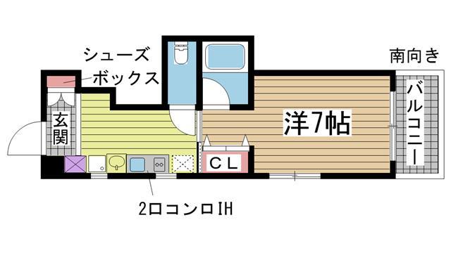 神戸市灘区王子町の賃貸物件間取画像