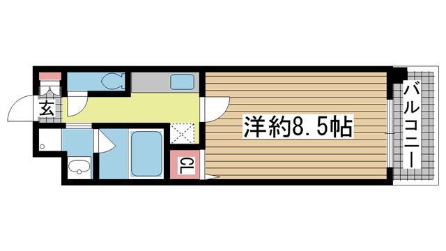 神戸市灘区天城通の賃貸物件間取画像