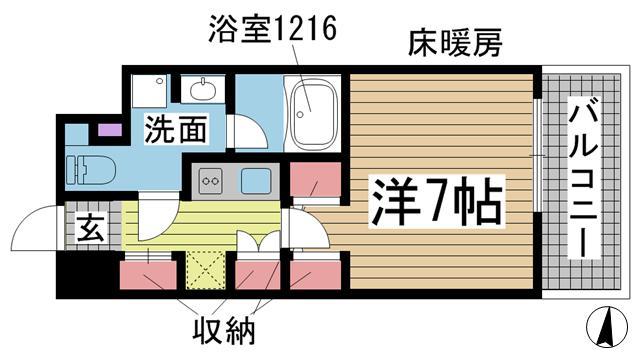 神戸市灘区琵琶町の賃貸物件間取画像