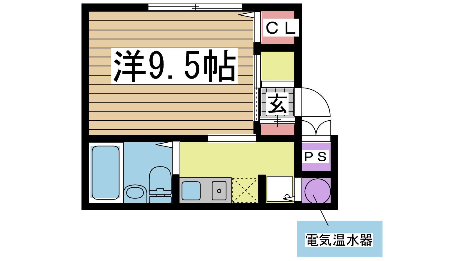 神戸市中央区港島中町の賃貸物件間取画像