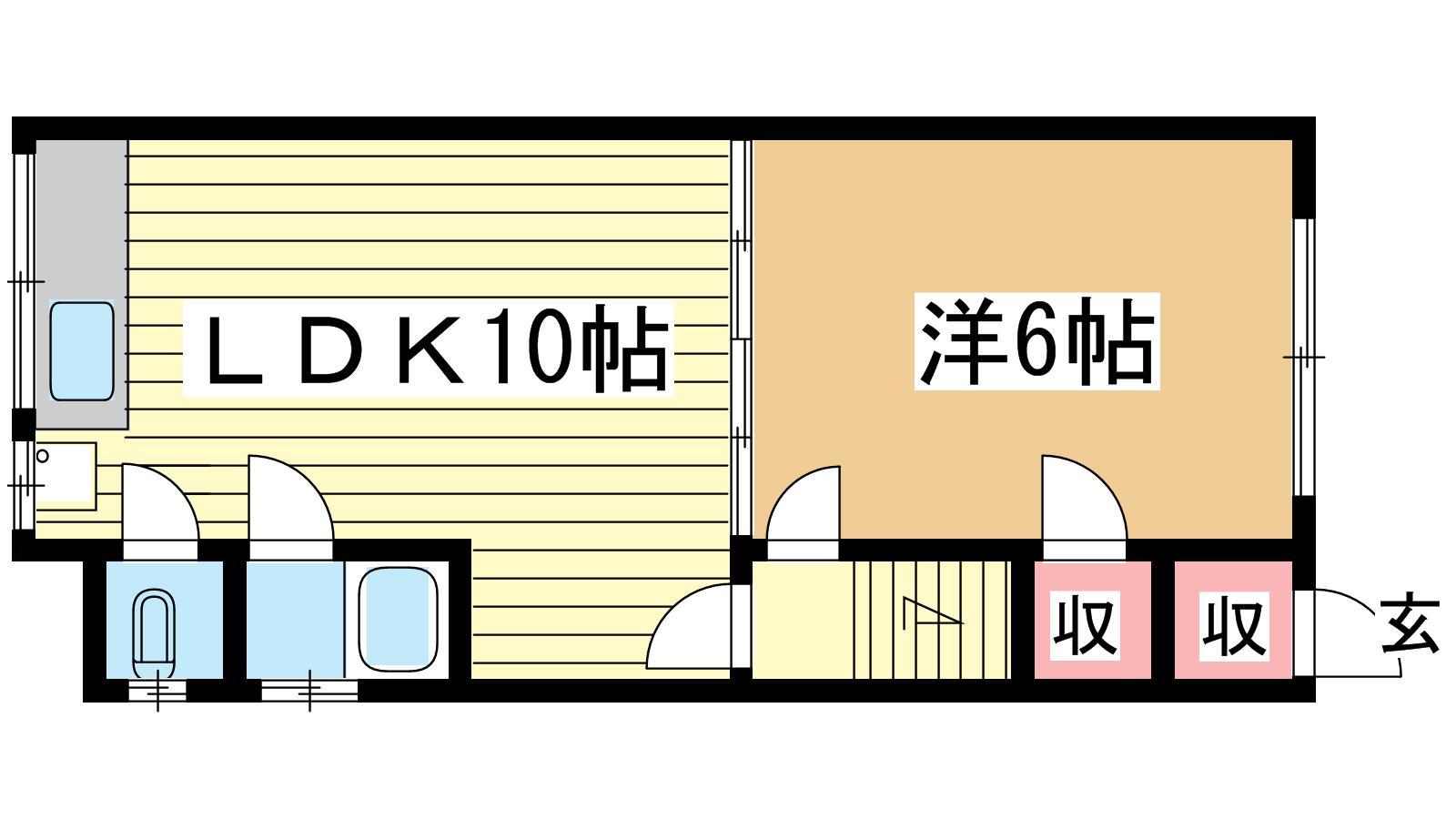 神戸市中央区琴ノ緒町の賃貸物件間取画像