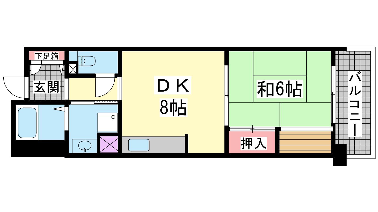 神戸市長田区大道通の賃貸物件間取画像