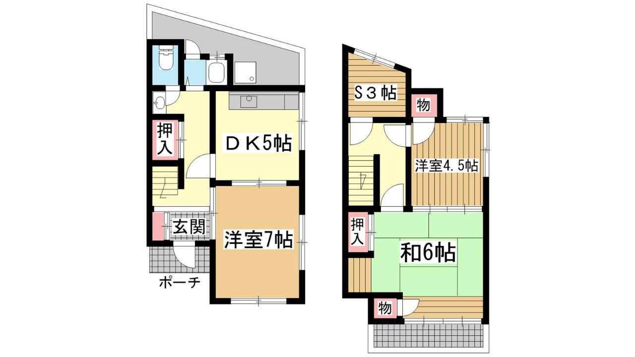 神戸市垂水区塩屋町の賃貸物件間取画像