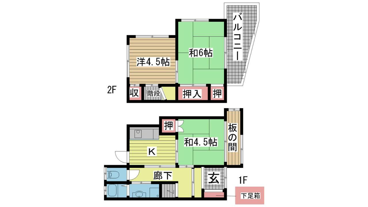 神戸市垂水区山手の賃貸物件間取画像