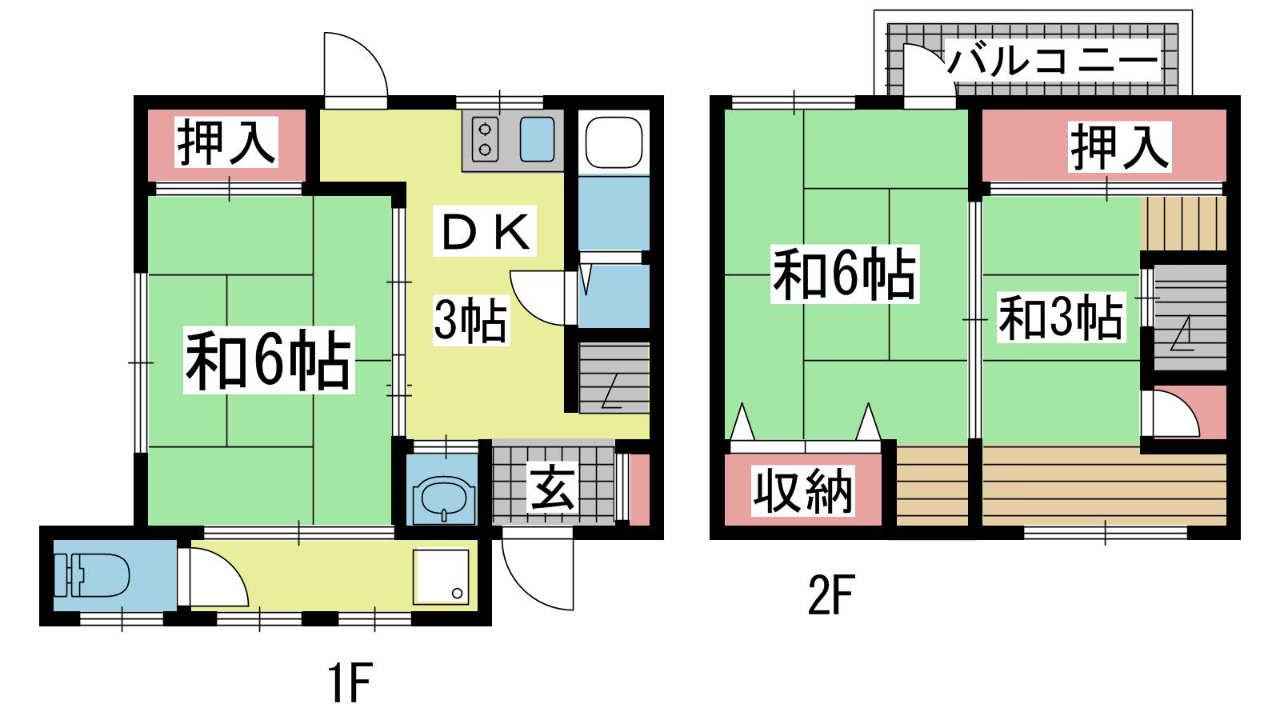 神戸市垂水区五色山の賃貸物件間取画像