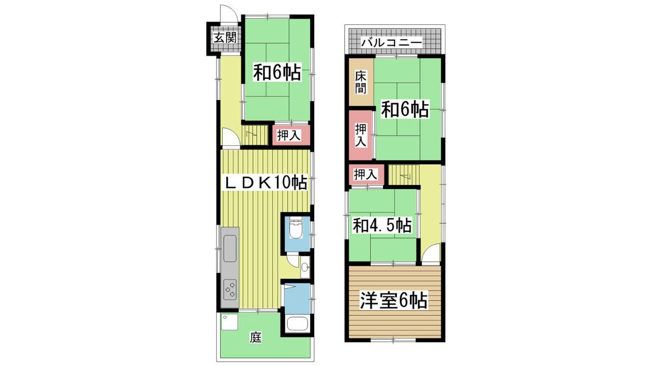 神戸市垂水区星陵台の賃貸物件間取画像