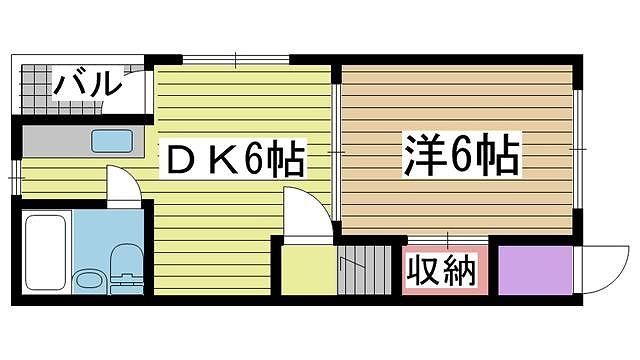 神戸市中央区上筒井通の賃貸物件間取画像