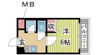 神戸市東灘区御影石町の賃貸物件間取画像