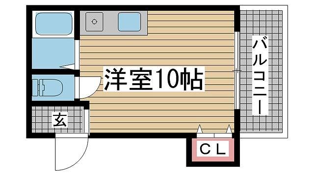 神戸市中央区東川崎町の賃貸物件間取画像