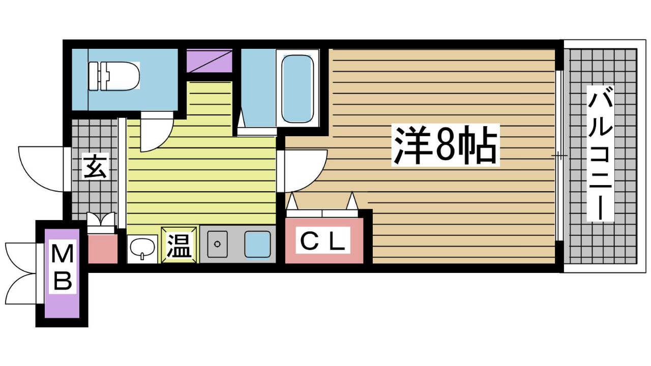 神戸市東灘区甲南町の賃貸物件間取画像