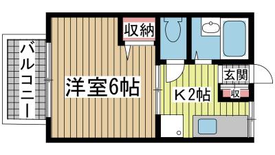神戸市兵庫区下祇園町の賃貸物件間取画像