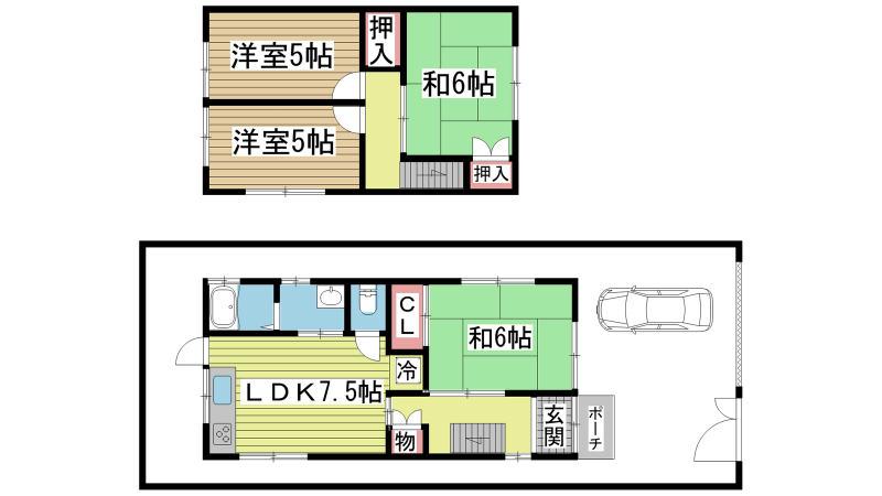 神戸市垂水区西舞子の賃貸物件間取画像