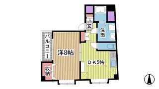 神戸市中央区中山手通の賃貸物件間取画像