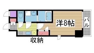 神戸市中央区旭通の賃貸物件間取画像