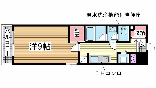 神戸市中央区脇浜町の賃貸物件間取画像