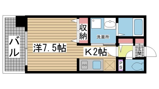 神戸市中央区生田町の賃貸物件間取画像