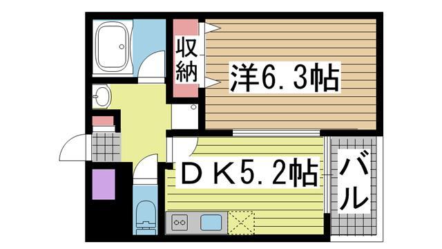 神戸市兵庫区小河通の賃貸物件間取画像