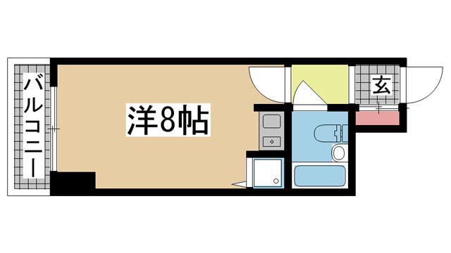 神戸市中央区栄町通の賃貸物件間取画像