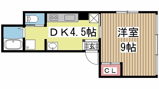 神戸市中央区元町通の賃貸物件間取画像