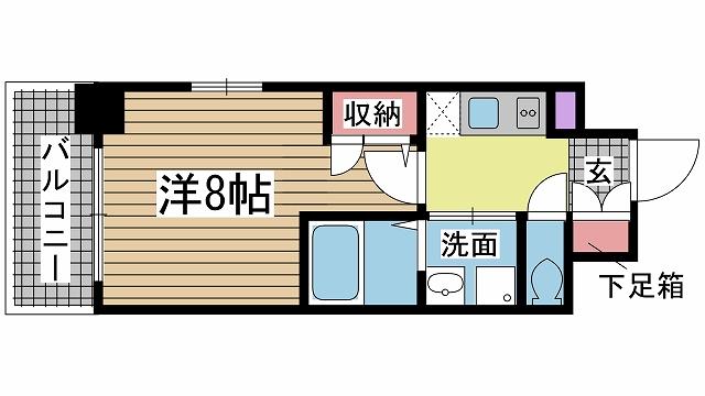 神戸市灘区鹿ノ下通の賃貸物件間取画像