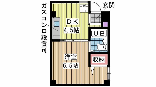 神戸市中央区楠町の賃貸物件間取画像