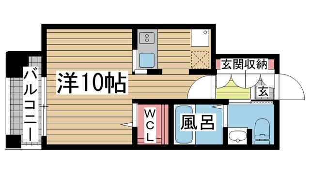 神戸市中央区雲井通の賃貸物件間取画像
