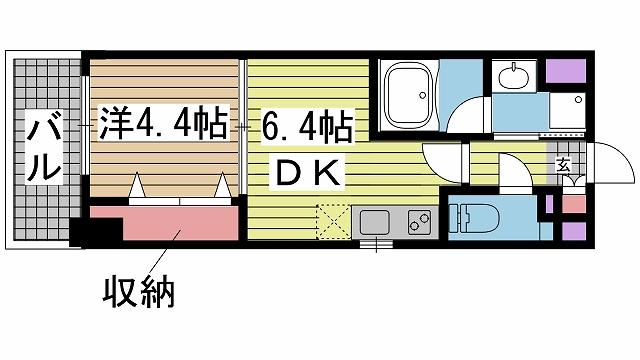 神戸市兵庫区浜崎通の賃貸物件間取画像