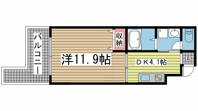神戸市長田区水笠通の賃貸物件間取画像