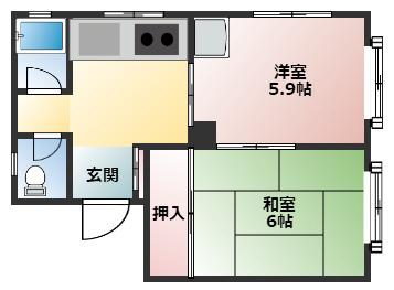 神戸市中央区坂口通の賃貸物件間取画像